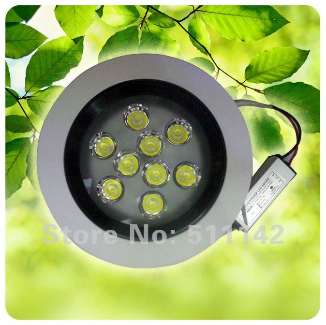 New products dimmable 9w led ceiling lights, led 9w, No glare interference of light source, AC 85~265V,Warm White(China (Mainland))