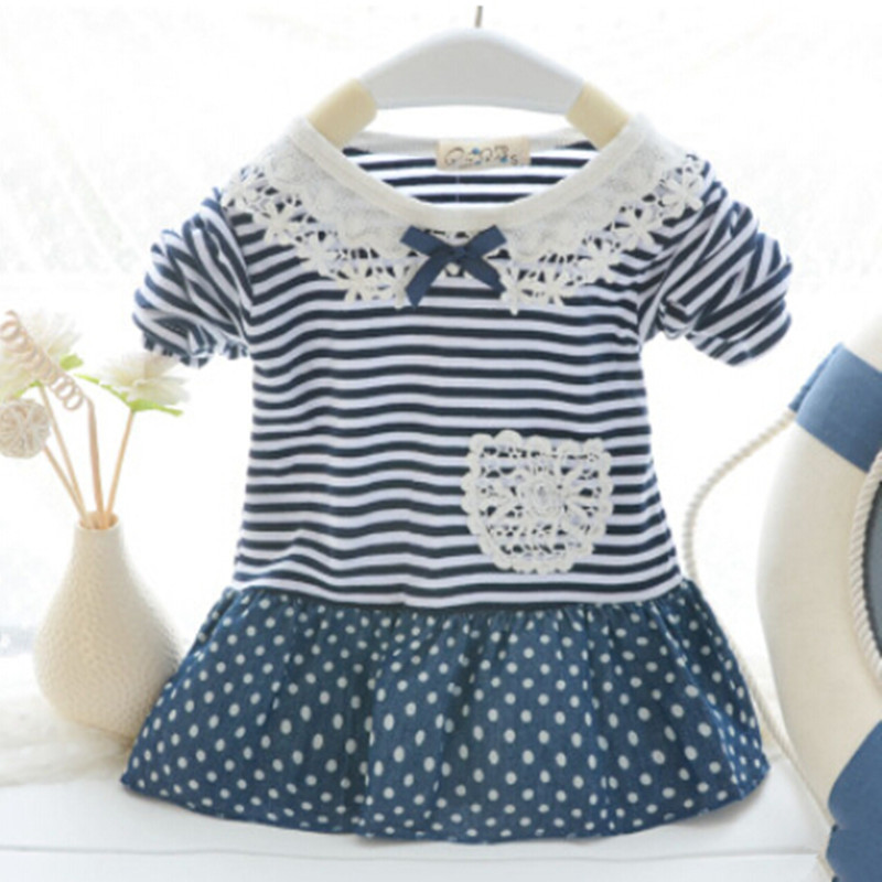 2015 Spring Baby Tops And Tees, Baby Girls Striped Long Sleeve T shirt Long Design ,Newborn Baby t-shirts Good Quality<br><br>Aliexpress
