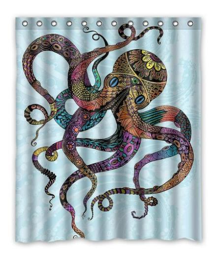 2015 New Customed Octopus Fashion Home Living Waterproof