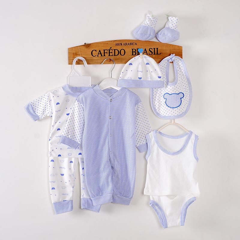 8PCS/0-3M/2016 summer spring autumn baby brand girl boy newborn clothing set 100% cotton babies Underwear Romper Vest hat BC1002(China (Mainland))