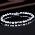 Free Shipping Korean Style Brand 925 Silver White Round Beads Bracelet For Women Fashion Wedding Jewelry