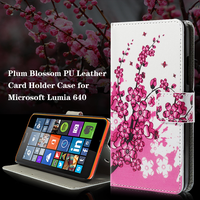 Colorful Pattern Magnetic Leather Stand Flip Cover Case for Microsoft Lumia 640 Dual Sim / 640 LTE(China (Mainland))