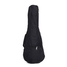 """21 """"حقيبة الغيتار النايلون أكسفورد القيثارة غطاء الغيتار مقاوم للماء حقيبة جيتار لينة أشرطة الكتف القابلة للتعديل الغيتار تحمل أكياس أسود(China)"""