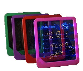 S00228 LED Message Board Led Writing Board Kids Painting Writing Panel With Fluorescent Marker Pen Birthday Gift fs(China (Mainland))