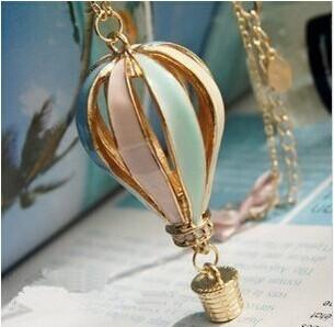 $10 (mix order) Free Shipping Single Mixed Wholesale Beautiful Balloon Alloy Pendant Necklace N010(China (Mainland))