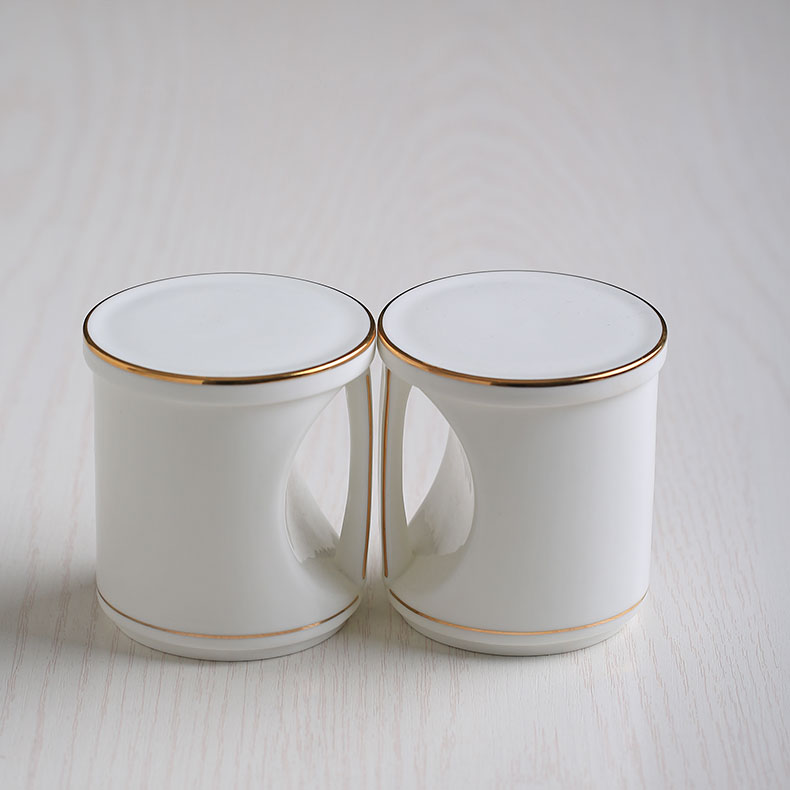 Mug ceramic creative personality lovely cup Coffee Mug Cup Valentine Gift heart-shaped couple cups(China (Mainland))