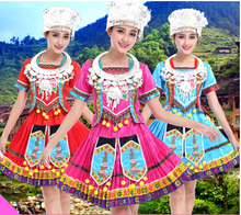 Women's costume pleated skirt dance costume clothes Ladies Miao clothing Hmong clothes for women wholesales and retails