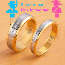 18k gold silver plated forever Love letter jewerly accessories Women & Men wedding pair Couple Rings(China (Mainland))