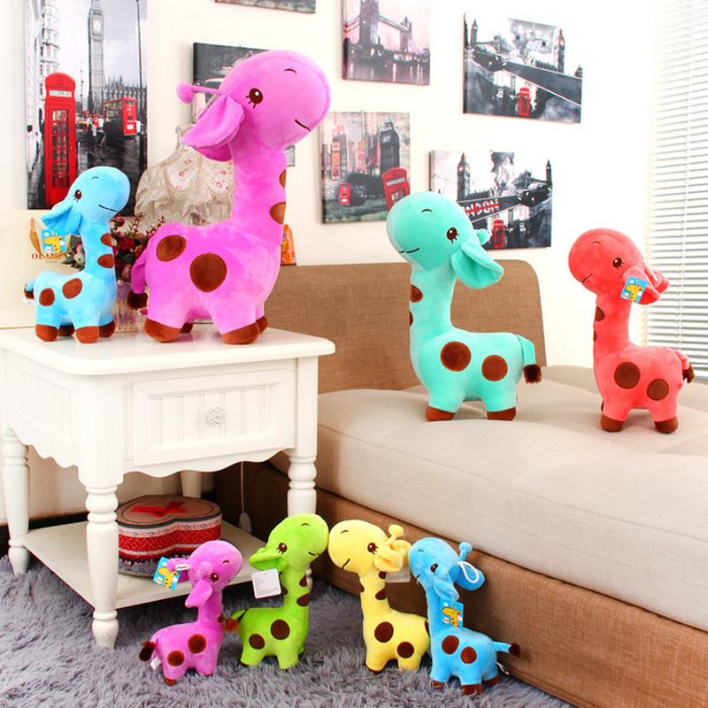 1 PC Unisex Baby Kid Child Girls Cute Gift Plush Giraffe Soft Toy Animal Dear Doll Child Birthday Happy Gifts18 X 7 cm(China (Mainland))