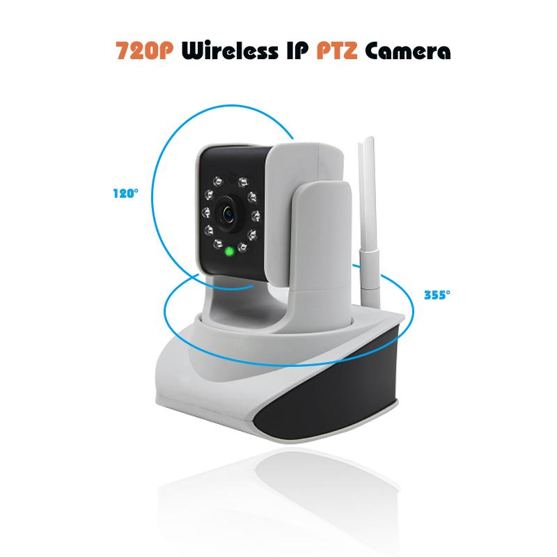 home cam 720p ip camera wireless ptz network camera standard TF card slot IR cut Wall Ceil Desk Mounting security hd 1mp camera(China (Mainland))
