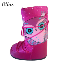 2015 de moda de la luna marca mujer caliente del invierno para la nieve de impresión zapatos de invierno plataforma botas envío gratis(China (Mainland))
