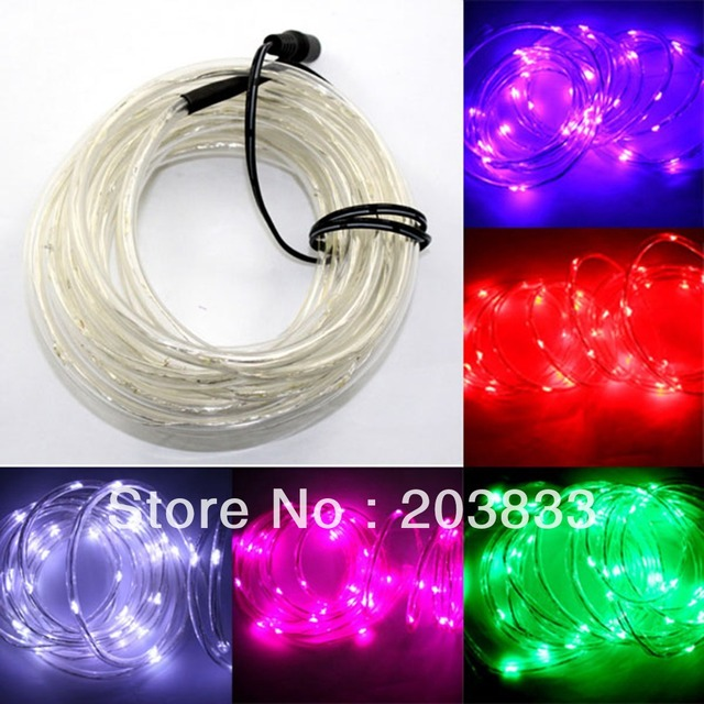 5M 100 LED Tube Rope Outdoor Garden Party Xmas Decoration Holiday Strip Light 12V