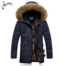 KUAMAI 2016 Winter New Men Down Coat Brand Clothing With Fur Collar Casual Hooded Thick Warm Duck Down Jacket Men Anti-Snow(China (Mainland))