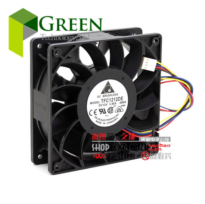 The Original TELTA 12cm 120MM PWM FAN 252CMF 12V 3.9A TFC1212DE Server case Big power Cooling fan with 4p(China (Mainland))