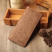 Mens Long hand bag open multi Card Wallet Handbag Clip Minimalist clutch wallet carteira masculina Handmade Personalized Retro