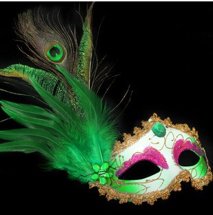 2015 1pc/lot Venetian Masquerade Masks Exquisite Lace Rhinestone Leather Mask Lily Flower Half Face Mask Ball Party #K605I(China (Mainland))