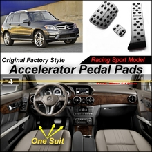 Car Accelerator Pedal Pad / Cover Factory Sport Racing Design Mercedes Benz GLK Class MB X204 AT Foot Throttle - speed car store