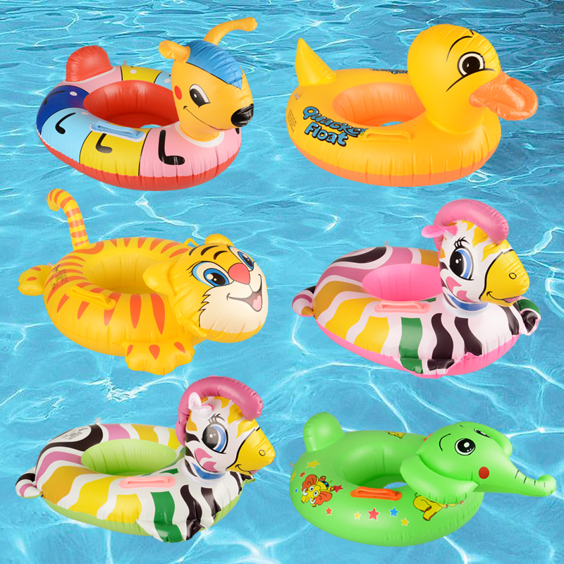 Child animal style seat baby floating ring infant seat baby swim ring water toys(China (Mainland))