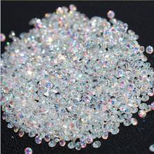 New 1440Pcs Micro Diamond DIY Nails Rhinestones Crystal Flat Back Non Hotfix Rhinestones stickers Need Glue Nail Art Decoration(China (Mainland))