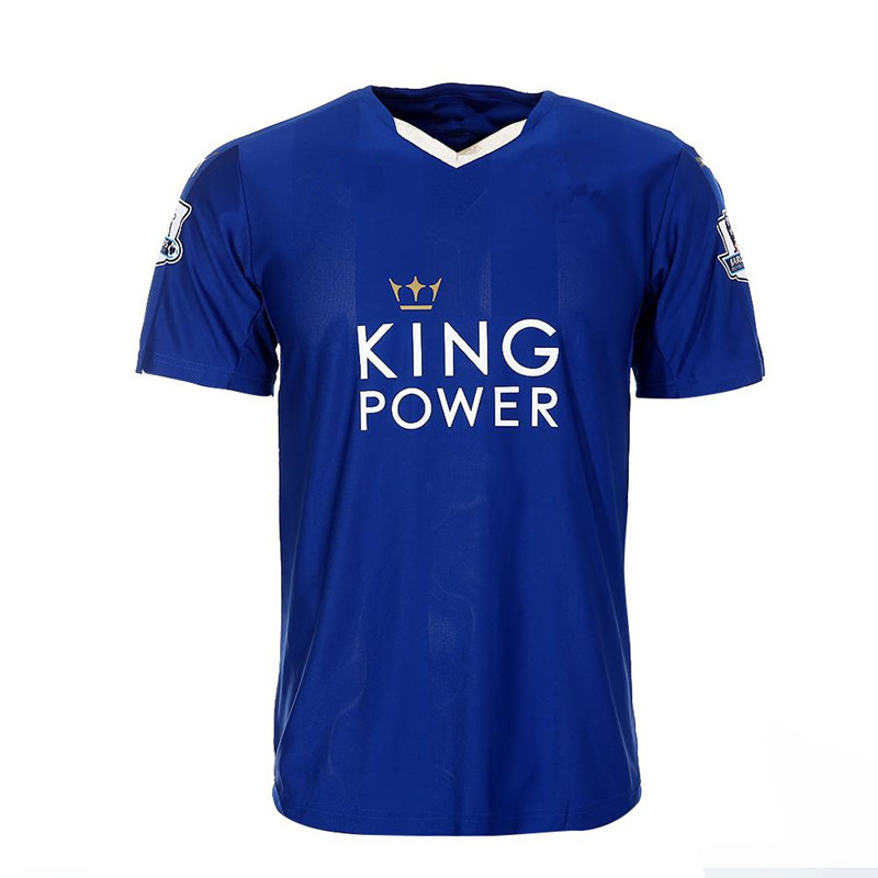 Free Royal Mail Shiping 2015/16 Leicester City Soccer Jersey Top Thailand Quality The Foxes Football Jerseys Stock In London(China (Mainland))