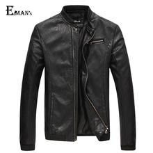 Man Lether Jacket Genuine Leather Jaquetas Masculinas Black PU Jacket Men Jaquetas De Couro Men's Winter Leather Coats C1838