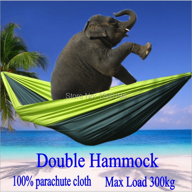 Portable Nylon Parachute Double Hammock Garden Outdoor Camping Travel Furniture Survival Hammock Swing Sleeping Bed For 2 Person(China (Mainland))