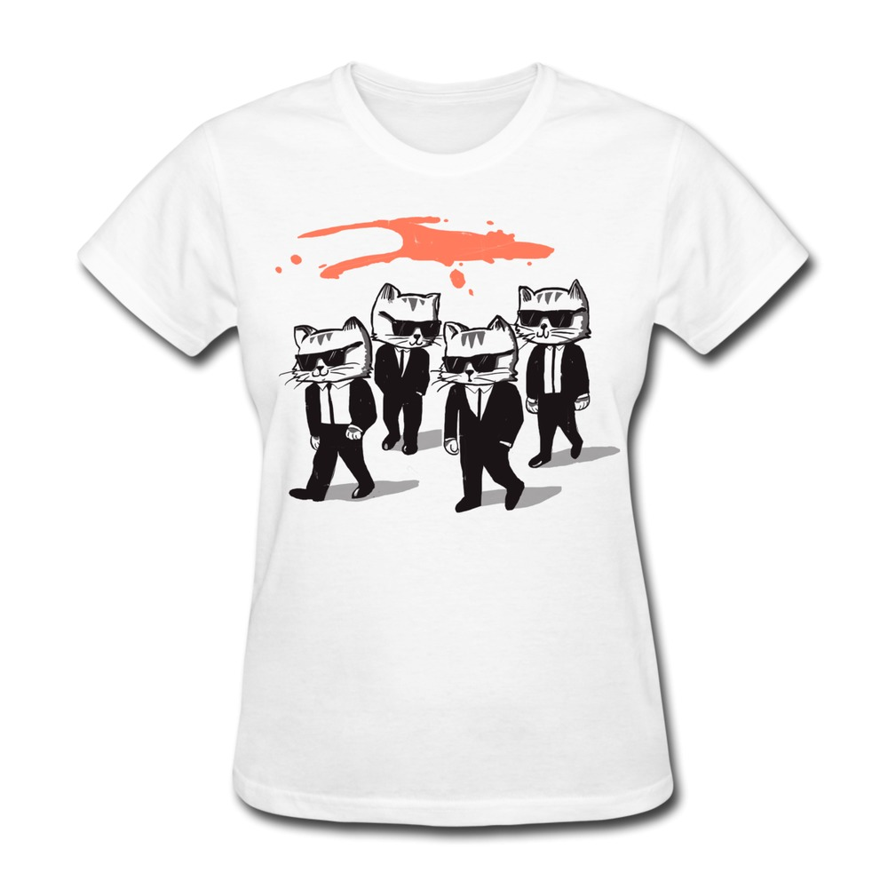 Customize Slim Fit T Shirt Womens Reservoir Cats Funny