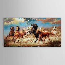 Iarts Modern Art Painting Framed Painting Famouse 8 Horse Running on Grassland Warehouse on USA(China (Mainland))