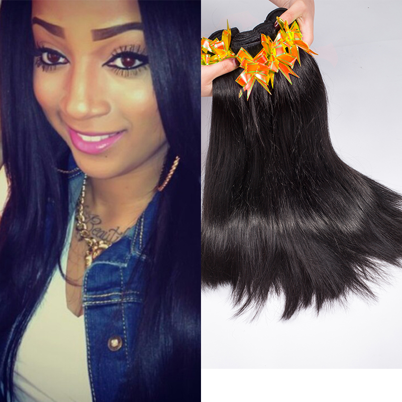 Grade 7a Unprocessed Virgin Hair Straight 5 Bundles Malaysian Human Hair Wigs Straight Virgin Extension