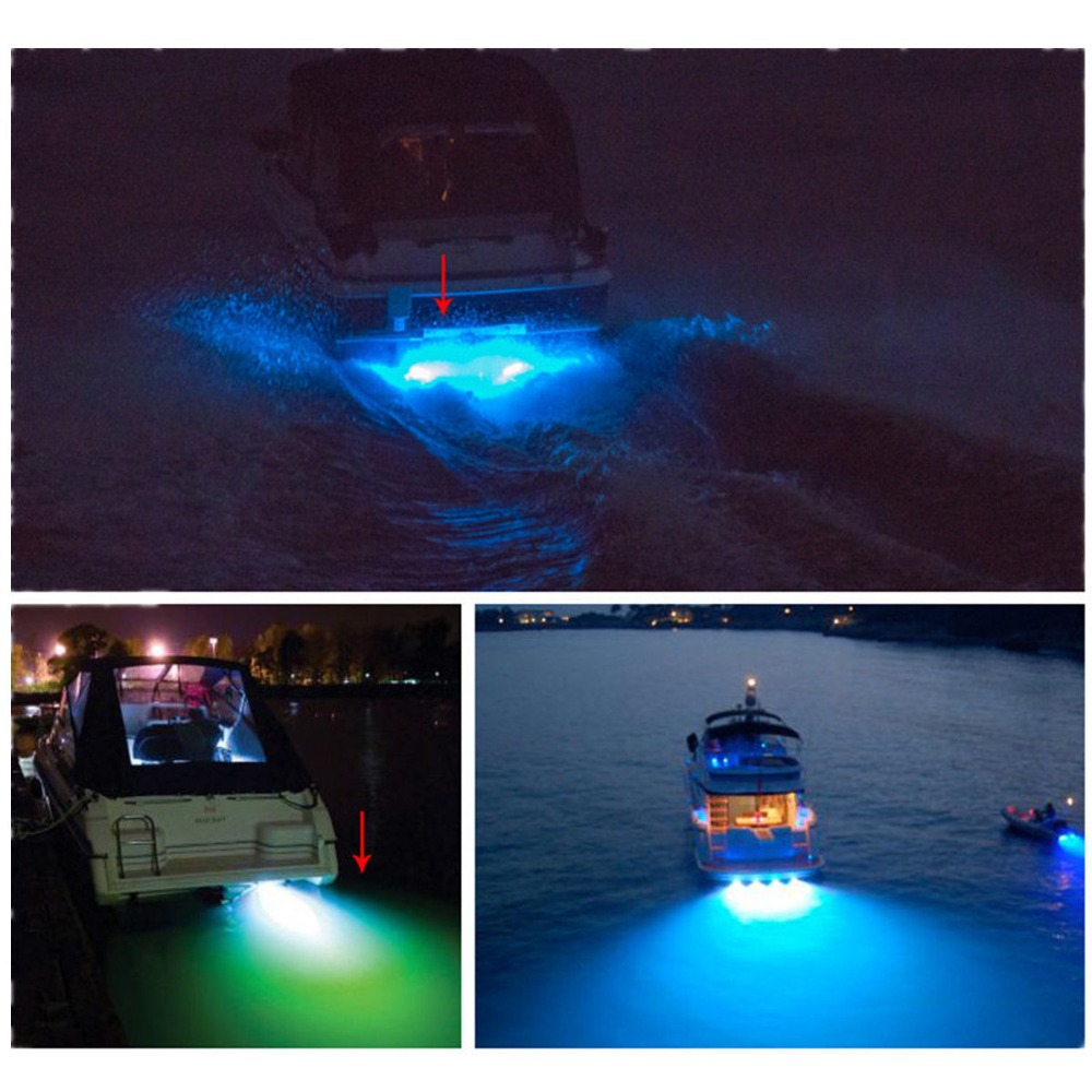 "LED BOAT DRAIN PLUG LIGHT *9 WATT LED * Underwater Brass coating chrome Garboard 1/2"" NPT blue color led marine light(China (Mainland))"