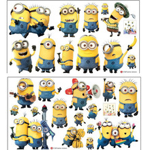 wall stickers Cartoon Despicable Me 2 Wallpaper For Kids Rooms Home Decor Art Decals Sofa house decoration Vinyl Wall Stickers(China (Mainland))