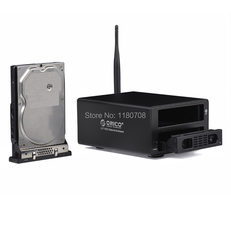 Wireless Home cloud Media Center HDD Enclosure 3.5'' SATA drives offer 2*4TB Storage Black(China (Mainland))
