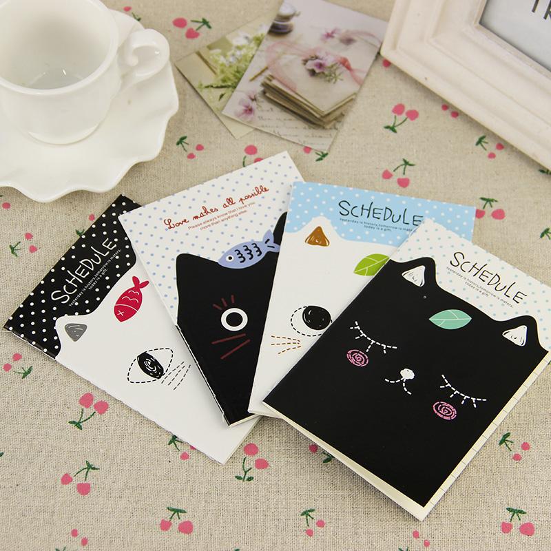 1pcs Cute Kawaii Cat Filofax Notepad Notebook Mini Stationery Diary Students School Supplies for Kids Gift(China (Mainland))