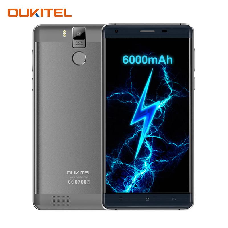 Oukitel K6000 Pro 5.5 Inch 6000mAh Octa Core Cellphone Android 6.0 MTK6753 Smartphone 3G RAM 32G ROM Dual SIM 4G Mobile Phone