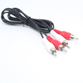 1 2m High Quality 2 RCA to 2 RCA Male to Male Cable Line TV DVD