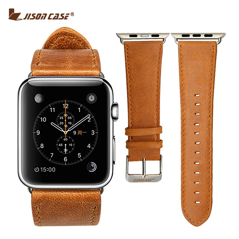 Гаджет  Luxury Real leather watchband for Apple watch 42mm with connector Slim Classical buckle strap for iwatch 42mm Free shipping None Часы