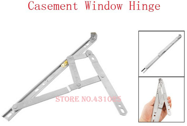 "12"" Silver Tone Stainless Steel Bars Casement Awning Window Hinge Pair(China (Mainland))"