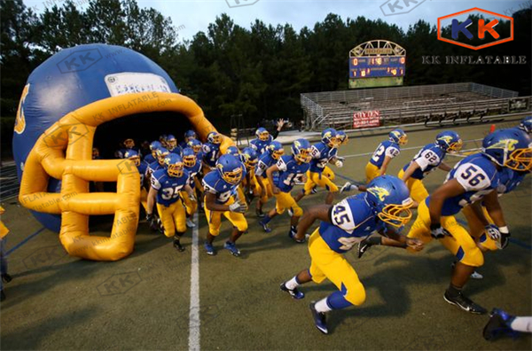 cheap Inflatable Football Tunnel / Inflatable Helmet Tunnel for soprt events(China (Mainland))