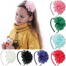 High Quality Boutique Ribbon Hairbands For Baby Princess Girls Sweet Handmade Chiffon Flower Headweae