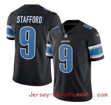 2016 Rush Limited Men's Detroit Lions 15# Golden Tate Black Color Top Quality(China (Mainland))