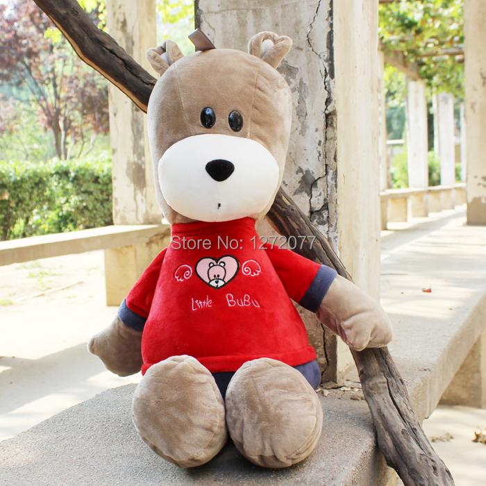 Red 45cm Little BUBU Bear Stuffed Plush Toy, Baby Kids Teddy Doll Gift Free Shipping(China (Mainland))