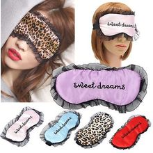 Travel Soft Silk Filled Sleeping Aids Eye Mask Cover Shade Blindfold Rest Shield 21.5*11(China (Mainland))
