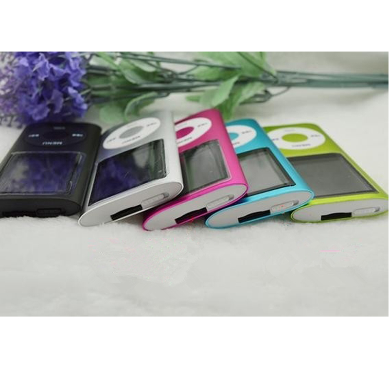 High quality battery mp4 player 8 gb for choose Music playing time 30 hours FM radio video player 9 Colors(China (Mainland))