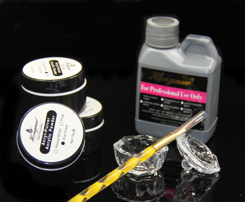 Pro Set Kit Nail Art Design Acrylic Powder Liquid Crystal Dappen Powder Brush Pen Dish Acrylic Nail Free Shipping(China (Mainland))