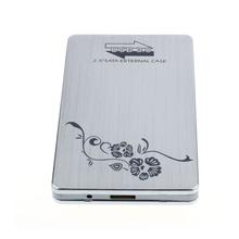 Hot-sale Sliver USB 3.0 External 2.5 Inch SATA Hard Disk Drive HDD SSD Enclosure Case Box 1 pc