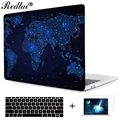World map starry sky laptop sleeve for macbook pro 2016 a1706 a1708 cover print crystal clear