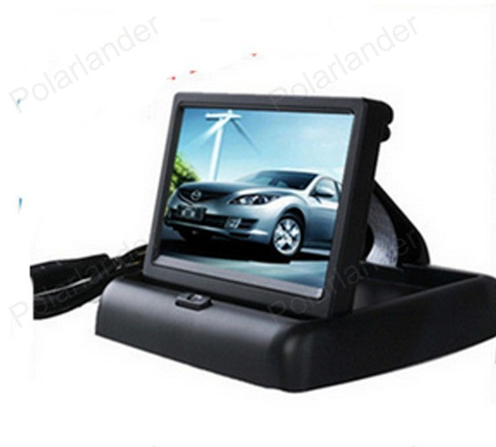 hot sell 480 x 272 TFT color Car Reverse Monitor 4.3 Inch DC 12V For HD  CCD 360 degree Car Parking Camera