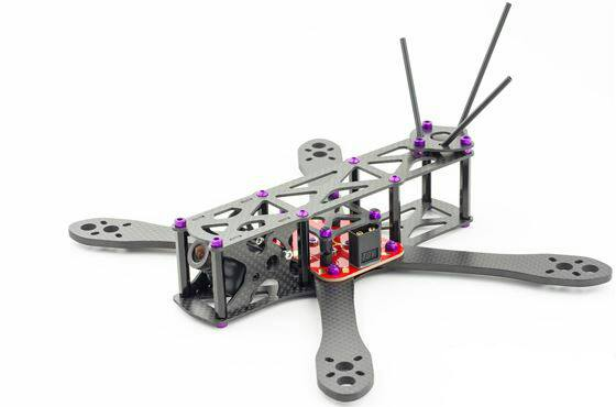 Марсианский 230 255 размер FPV Drone Гонки QAV Гонки Углерода волокна 4 мм Замена Колеса Рама