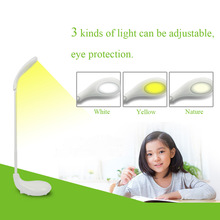 New Arrival 3W Foldable Touch Sensor Golf LED Table Lamp Eye Protection Reading Light(China (Mainland))