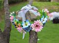 Fuchsia summer Flower Headwear Festival Wedding Party Garland Floral hair wreath headband Women hair accessories